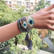 Beaded Bracelets, turquoisebracelet, Fashion, multi-layer bracelet