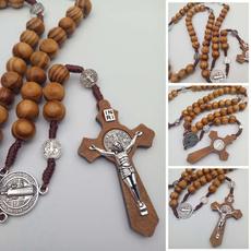 Necklace, catholic, necklaces for men, Cross necklace