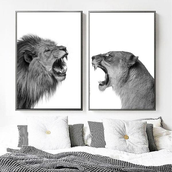 liones, Decor, Wall Art, Home Decor