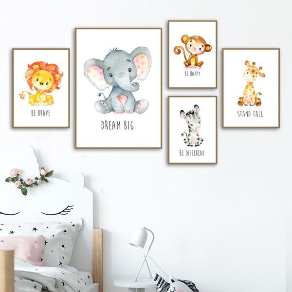 Baby, Decor, Wall Art, monkey