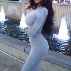 Summer, Women Sweater, Long Sleeve, Vestidos