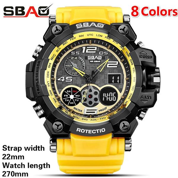 digitalsportsledmenswatch, analogdigitalwatch, led, Waterproof Watch