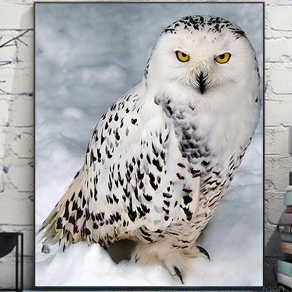 crossstitch, Owl, DIAMOND, mosaicembroidery