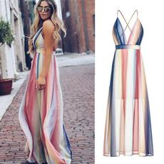 Spaghetti Strap, Fashion, Halter, long dress