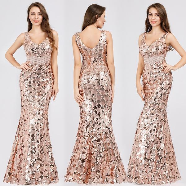Deep V-Neck, Fashion, Ladies Fashion, Deep V-neck Dress