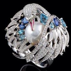 Vintage, swan, 925 silver rings, Classics