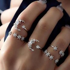 DIAMOND, Star, Jewelry, 925 silver rings