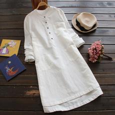 Autumn Dress, dressesforwomen, tunic, cottonshirtdres