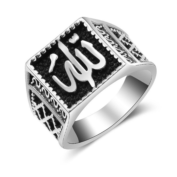 religionpatternring, Jewelry, Silver Ring, Stainless steel ring