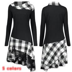 blouse, Cotton, plaid, tunic