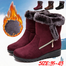 casual shoes, wedge, Plus Size, fur