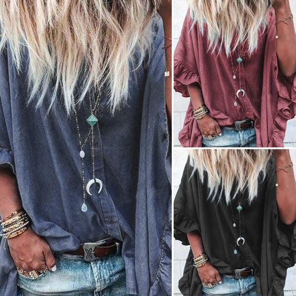 shirtsforwomen, blouse, Bat, Plus size top