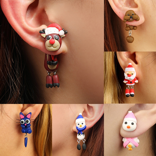 polymer, Fashion, Stud Earring, cartoonanimalearring
