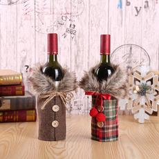 Decor, christmaswinebottlecover, Christmas, Santa Claus