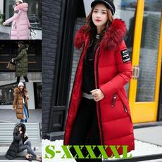 Down Jacket, Plus Size, fur, Jacket