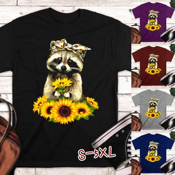 Summer, summer t-shirts, Cotton T Shirt, Sunflowers