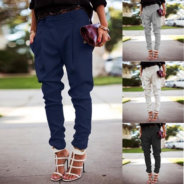 womenfashionpant, trousers, high waist, Casual pants