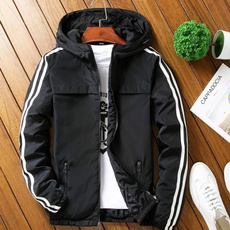 hooded, Coat, loosecoat, men's coat