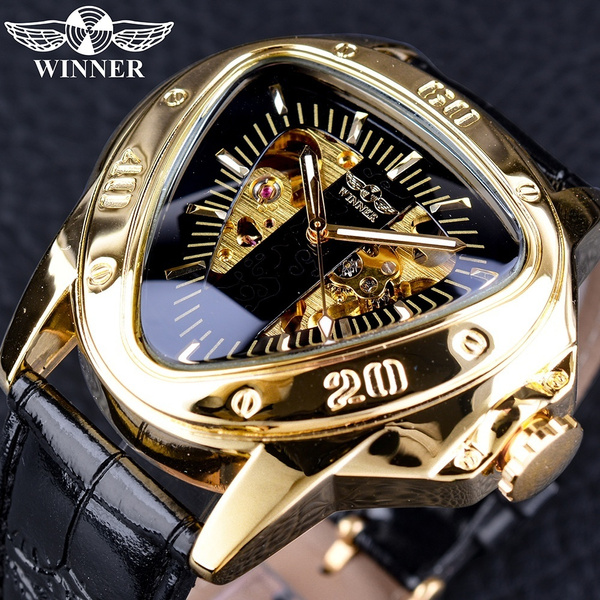 automaticmechanicalwatch, Men Business Watch, Triangles, Skeleton