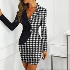 slim dress, Fashion, office dress, Autumn Dress