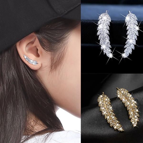 diamondearringsstud, Sterling, DIAMOND, gold