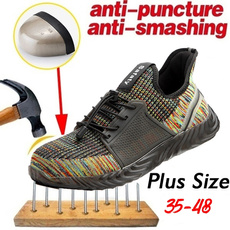 Steel, safetyshoe, Sneakers, Plus Size