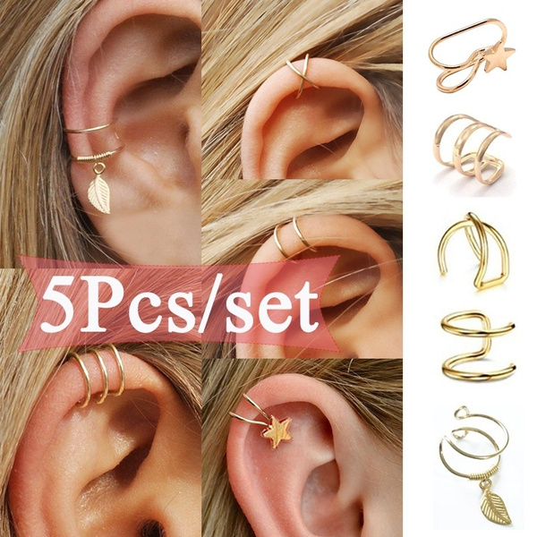 goldplated, gold, Simple, earclipearring