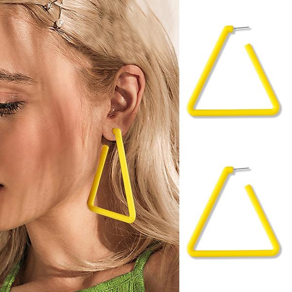 Fun, Hoop Earring, Triangles, Gifts