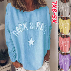 women pullover, Plus Size, Star, Long Sleeve