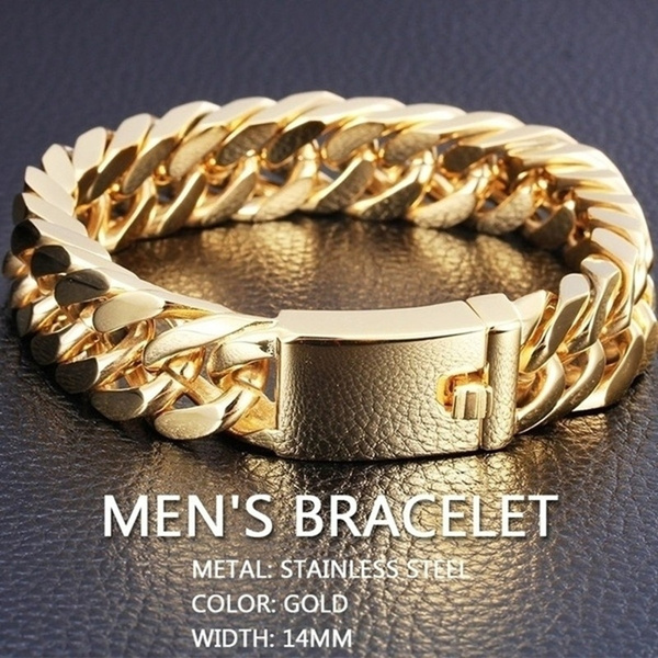 Heavy, goldplated, Chain, Bracelet Charm