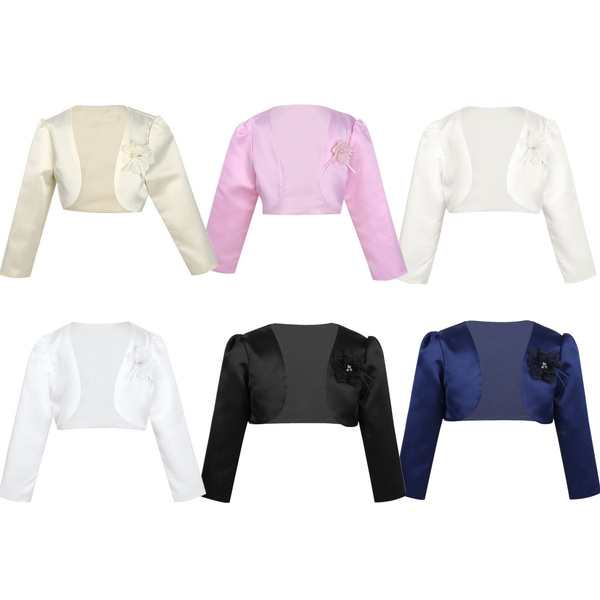Fashion, satinjacket, longsleevesbolero, Long Sleeve