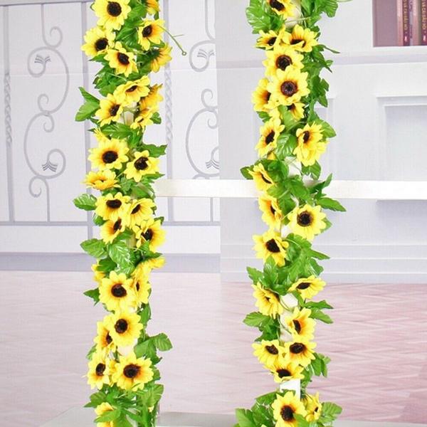 artificialsunflower, greenery, Decor, silk