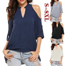 blouse, Plus Size, Necks, chiffon