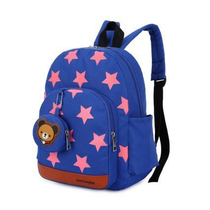 Personalised Kids Backpack Girls Boys Back To School Bag Rucksack Star Pattern