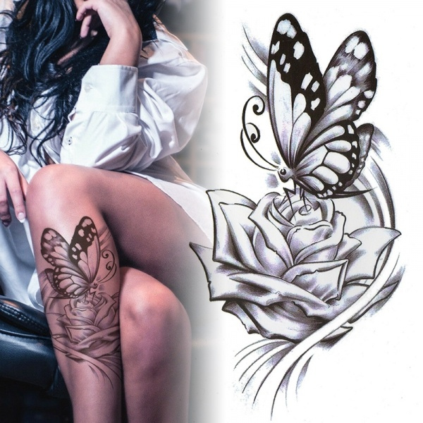 butterfly, tattoo, femaletemporarytattoosticker, art