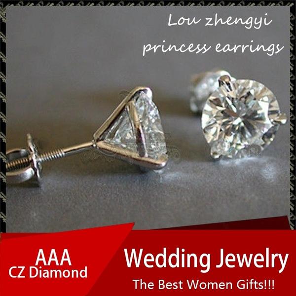 Bride, DIAMOND, Jewelry, Stud Earring