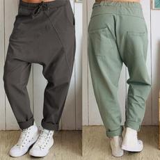 Women Pants, longtrouser, harem, elastic waist