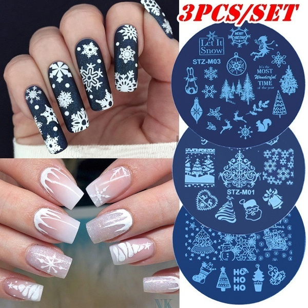 manicure, nailstamping, art, Christmas