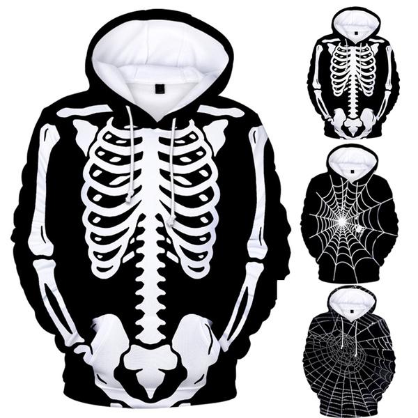 skeletonhooded, Fashion, Skeleton, Long Sleeve