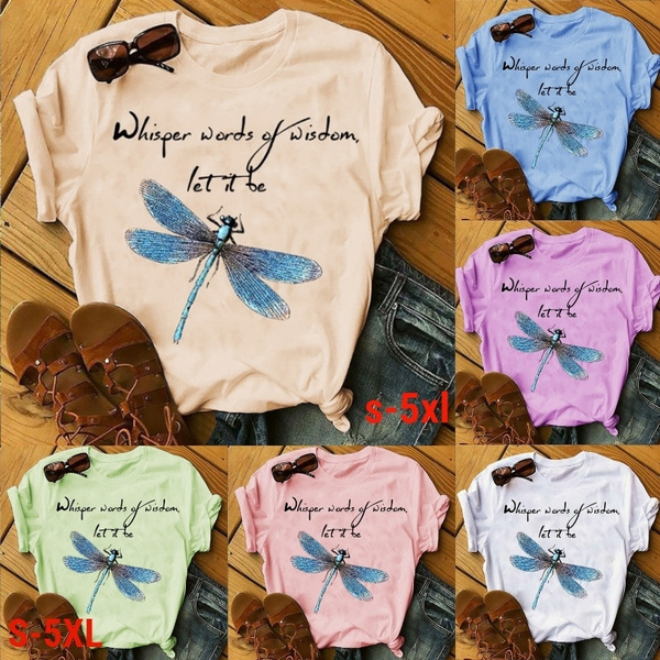 printedtop, Plus Size, Cotton T Shirt, Summer