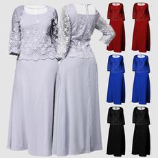 Plus Size, Lace, Mother, Evening Dress