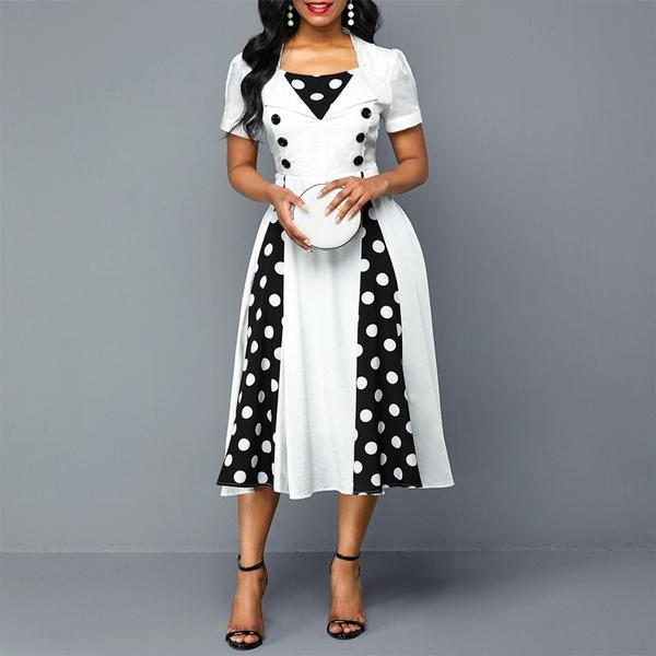 Swing dress, Plus Size, pleated dress, Sleeve