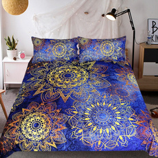 3pcsbeddingset, Home Decor, gold, Home textile