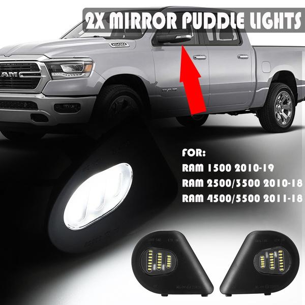 2Pcs OEM 24SMD LED Side Mirror Puddle Light Lamp Assembly White For Dodge Ram 1500 2500 4500 5500 2010-2018 White
