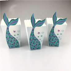 mermaidtailpopcornboxe, mermaidpartytablesupplie, Shower, babyshowerpartyfavor