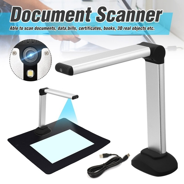 Document Camera for Teachers Real-time Projection Recording Scanner Office Education for Distance Learning Web Conferencing Portable USB Multi-Language OCR Recognizable Book Image A4 Format