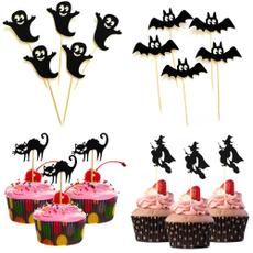 Bat, cupcake, Dessert, Halloween