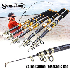 Fiber, portable, fishingrod, carbon fiber