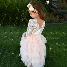 Lace, tulle, Dress, backless dress
