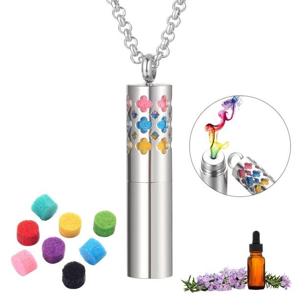 Steel, diffuserpendant, perfumediffusernecklace, essentialoildiffuser